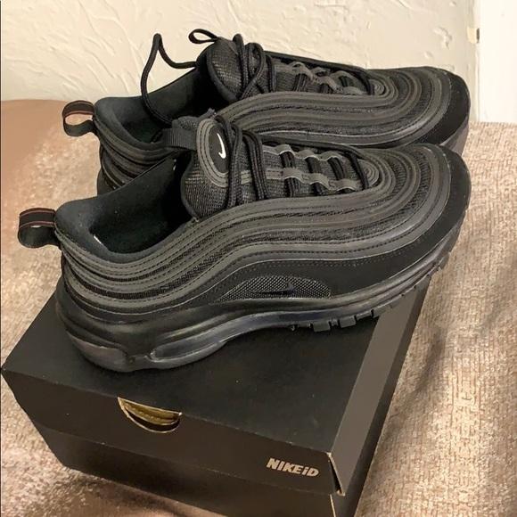 Women Nike Air Max 97 —- All Black NikeID